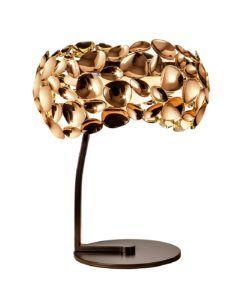 Lámpara de mesa oro rosa NARISA G9