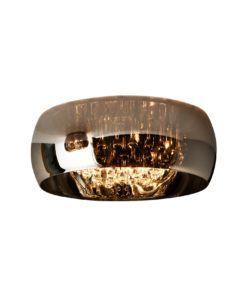 Lámpara plafón 50 cm Ø acabado cromo y cristal ARGOS