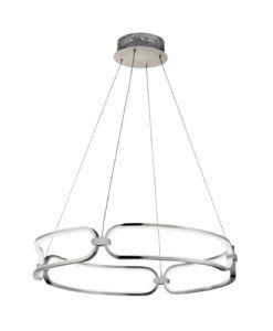 Lámpara de techo 60 cm Ø cromo COLETTE LED