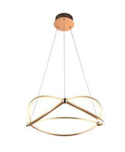 Lámpara oro rosa 60 cm Ø OCELLIS LED