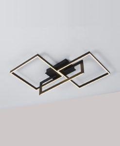 Plafón dimmable negro MURAL LED 48W luz cálida