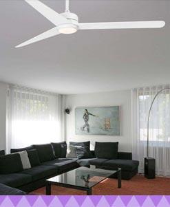 Ventiladores de techo blancos