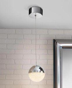 Colgante cromo SPHERE LED Ø 12 cm