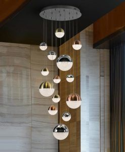 Lámpara 14 luces LED dimable SPHERE