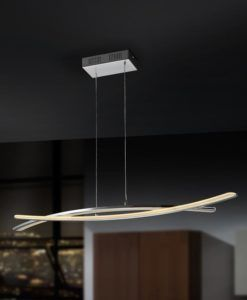 Lámpara de techo lineal cromo LINUR LED