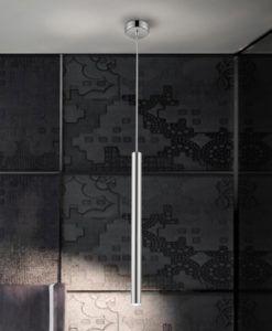Lámpara LED dimable cromo VARAS