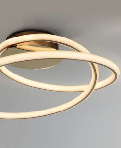 Plafón oro brillo y mate TUBE LED