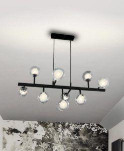 Lámpara 9 luces dimable negra ALTAIS LED