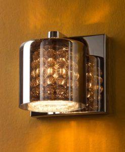 Lámpara aplique cromo y cristal espejado DENISE