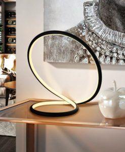 Lámpara de mesa dimable LED negra INFINITO
