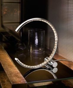 Lámpara de mesa LED cromo CELINE