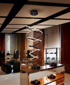 Lámpara de techo grande LED 8 aros RING