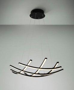 Lámpara de techo LED negra 60 Ø TRAMA II