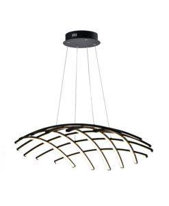Lámpara de techo LED negra 86 Ø TRAMA regulable