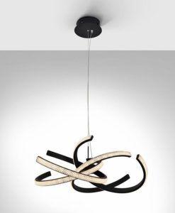 Lámpara de techo LED negro Ø 60 RING II