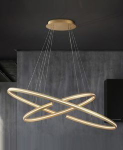 Lámpara grande dimable oro ELIPSE LED