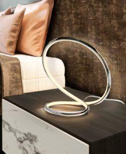 Lámpara sobremesa dimable LED cromo INFINITO