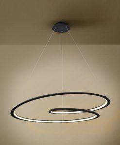 Lámpara techo negro mate LED Ø 97 LOOPING