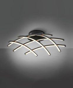 Plafón LED negro 59 Ø TRAMA