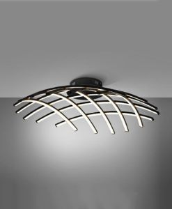Plafón LED negro 86 Ø TRAMA regulable