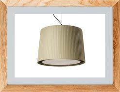 Lámparas de techo de tela