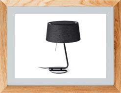Lámparas de mesa negras