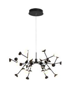 Lámpara de techo negra 74 cm Ø ADN LED